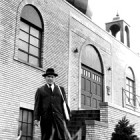 Imam Hussein Karoub at the American Moslem Society, circa 1957.
