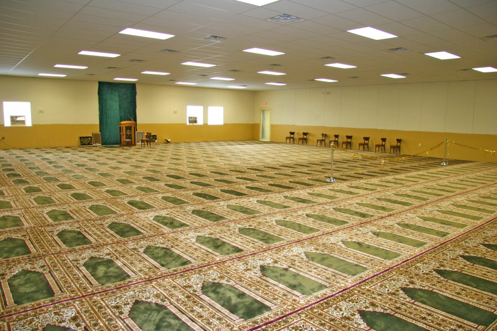Prayer space, Muslim Center of Detroit.