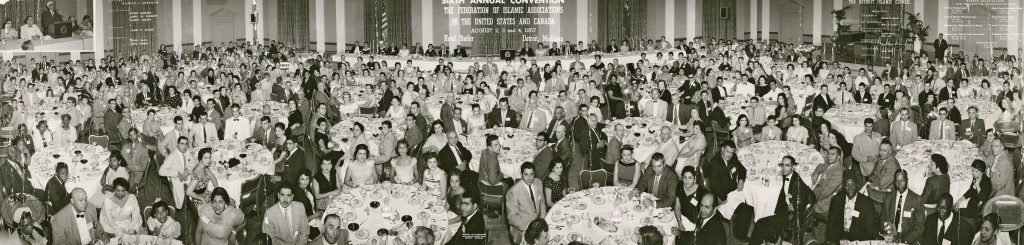 Federation of Islamic Associations banquet in Detroit, 1957. Courtesy of Joe Caurdy.