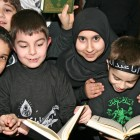 Children celebrating Ashura at the Islamic Center of America.