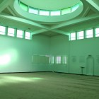 Prayer space and dome, Islamic Center of America.