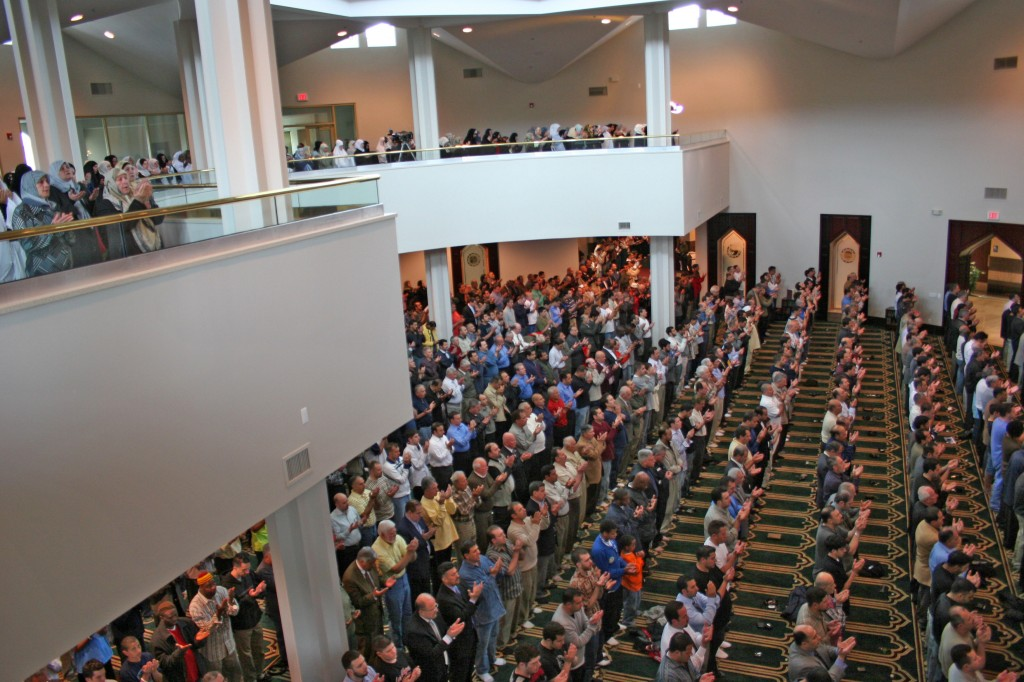 The first Friday Prayer held at the new Islamic Center of America. Photo by Sally Howell.