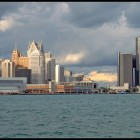 Detroit skyline. Photo by Philip Greenspun.