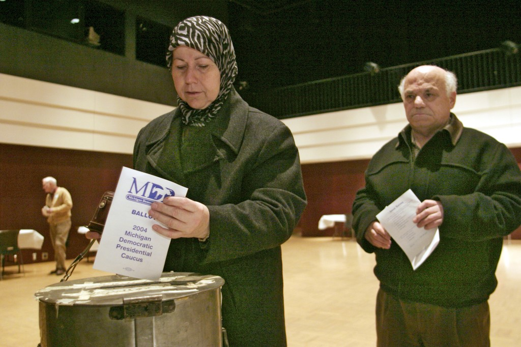 Exercising the right to vote. Photo by Jim West.