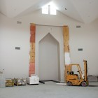 Qibla under construction, Islamic Center of America.