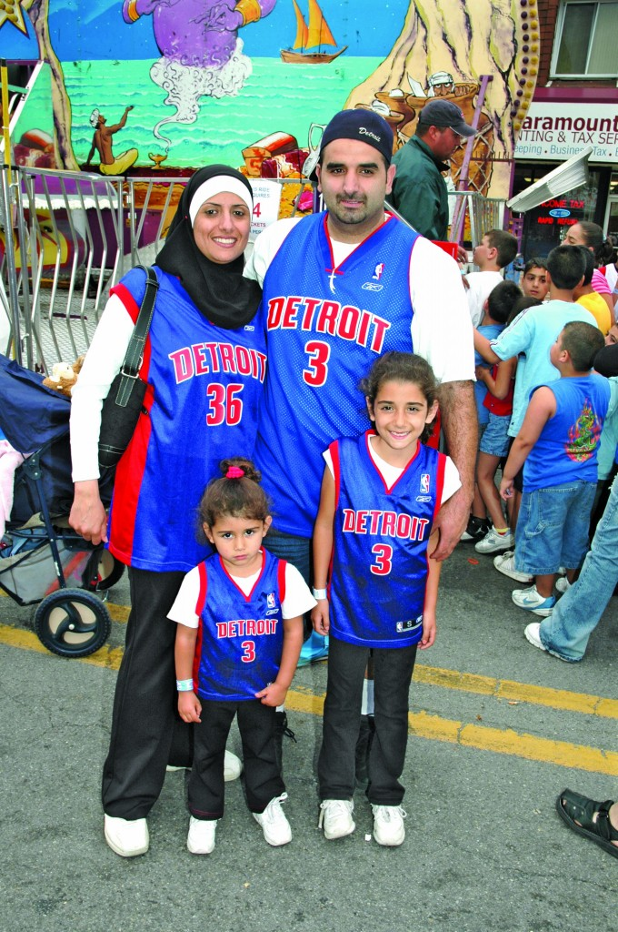 The Wallace family at a street festival in Dearborn. Photo by Steve Gold.